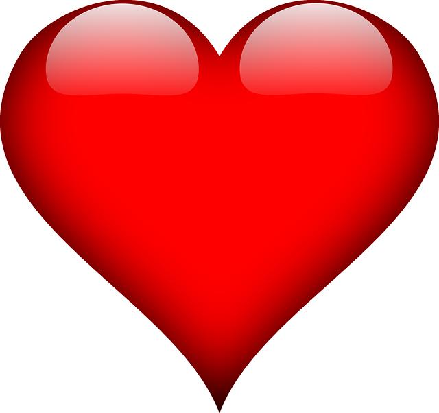 תמונות של לבבות - לב אדום