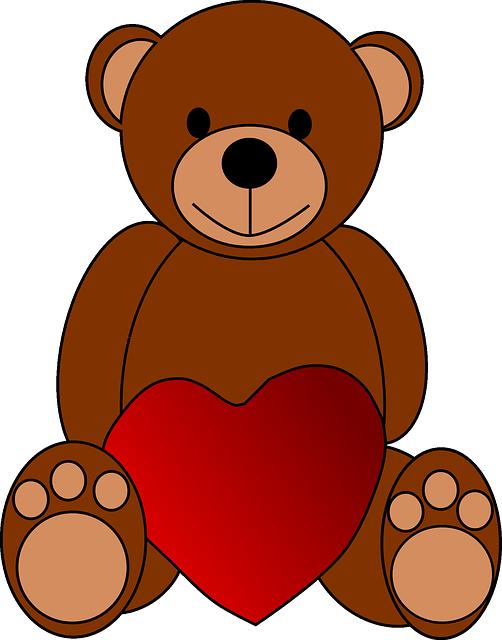 תמונות של לבבות - דובי מחזיק לב