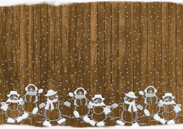 תמונות רקע - איש שלג, פתיתי שלג, גדר עץ