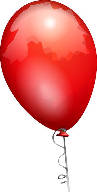 תמונות יום הולדת - בלון אדום