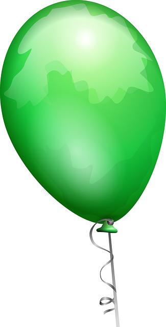 תמונות יום הולדת - בלון ירוק