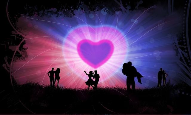 תמונות של לבבות - זוגות אוהבים שדה רקע