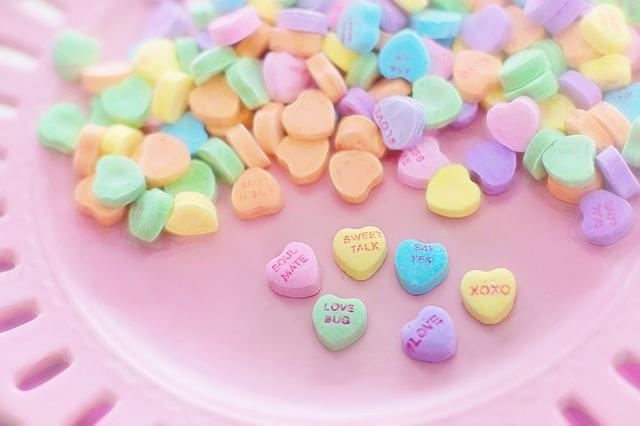 תמונות של לבבות - סוכריות